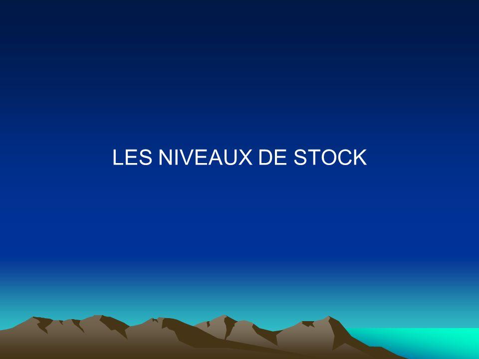 LES NIVEAUX DE STOCK