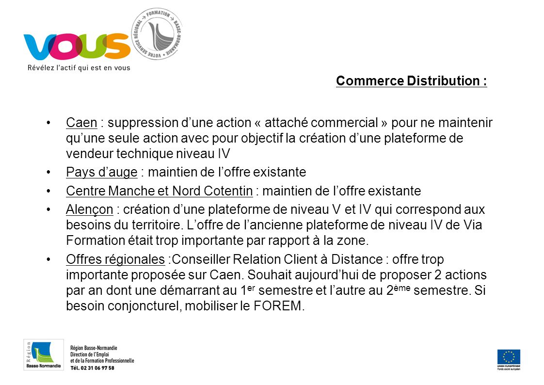 Commerce Distribution :