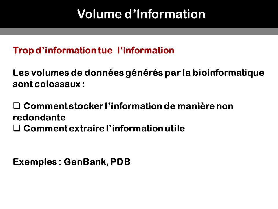 Volume d'Information Trop d'information tue l'information