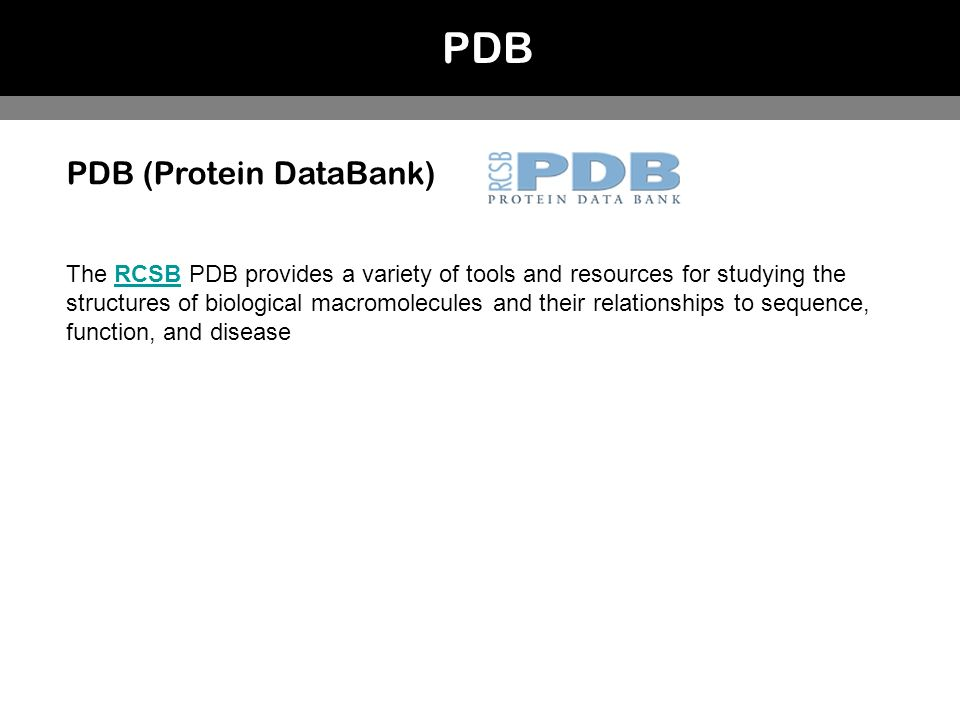 PDB PDB (Protein DataBank)