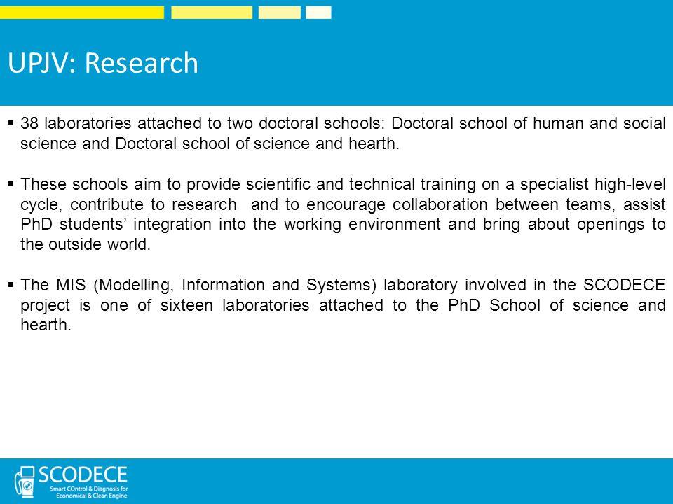 UPJV: Research