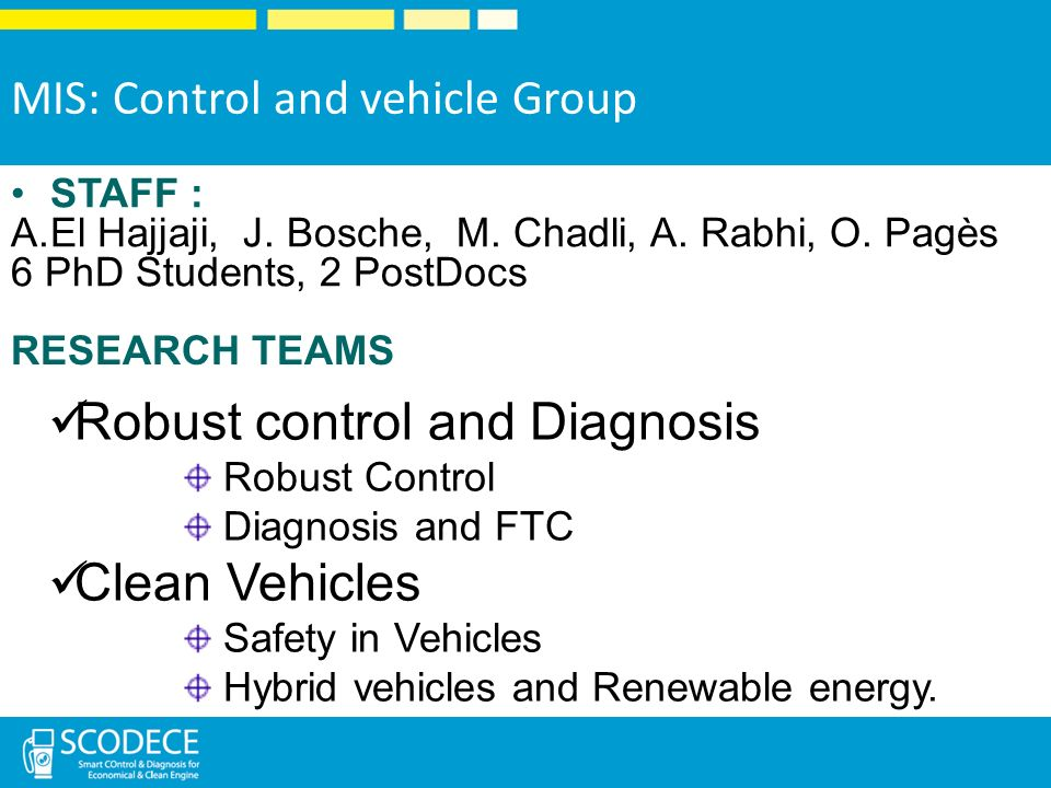 MIS: Control and vehicle Group