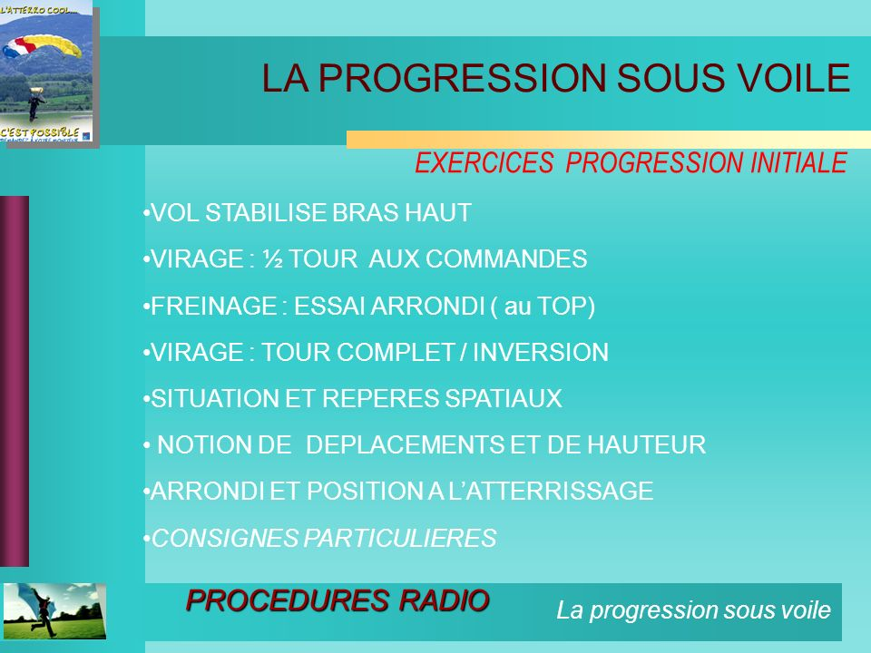 EXERCICES PROGRESSION INITIALE