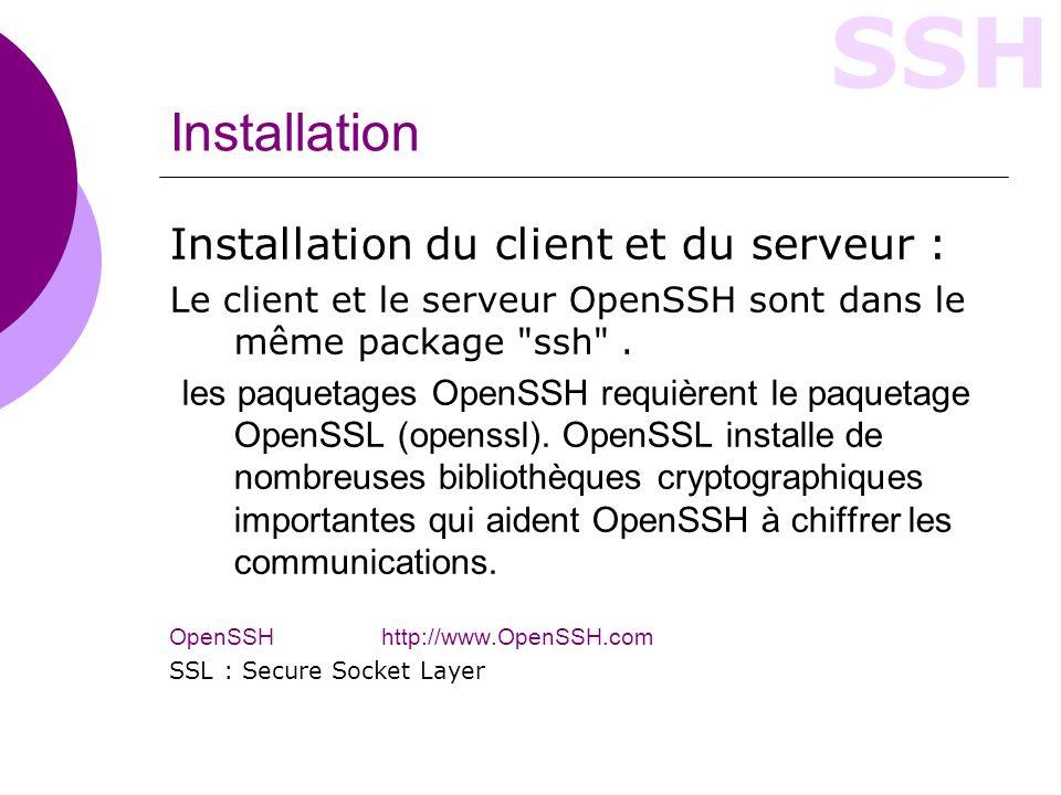 Installation Installation du client et du serveur :