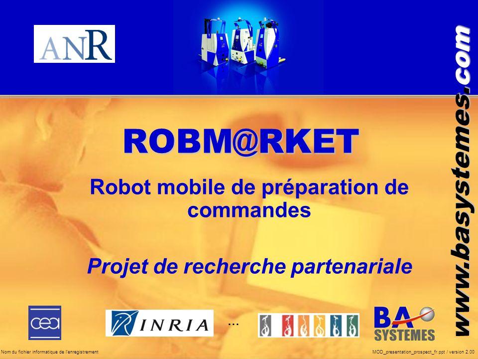 ROBM@RKET Robot mobile de préparation de commandes
