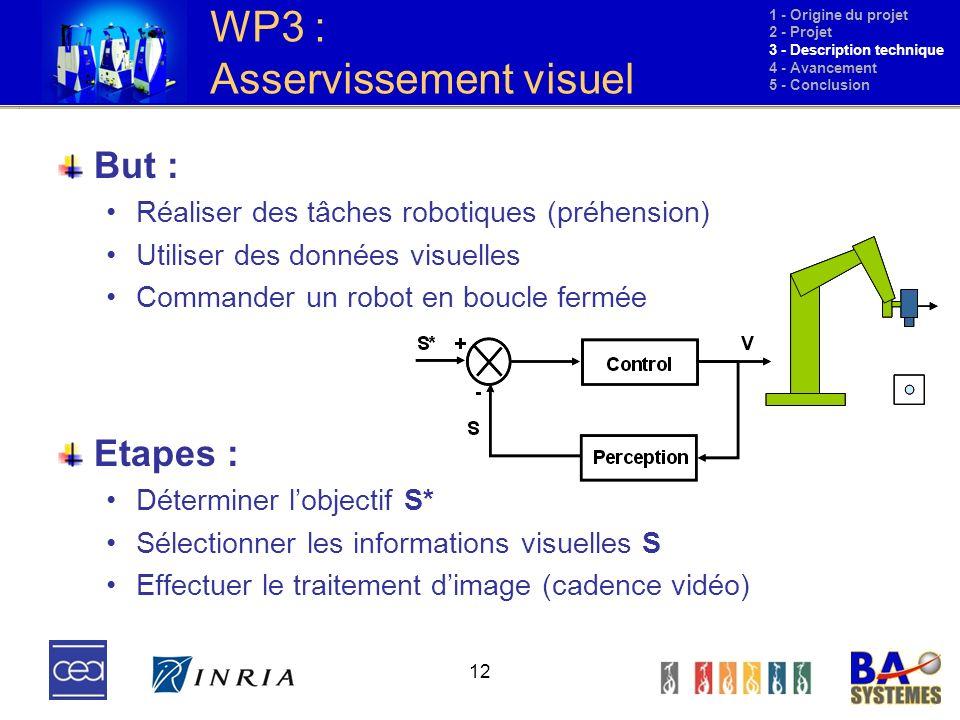 WP3 : Asservissement visuel