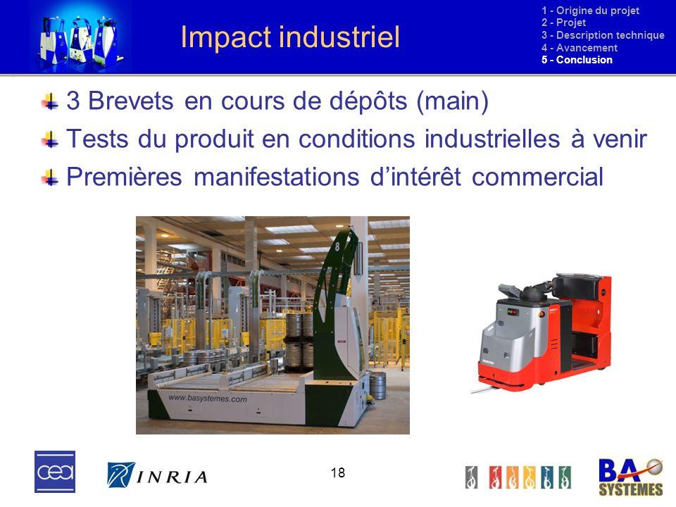 Impact industriel 3 Brevets en cours de dépôts (main)
