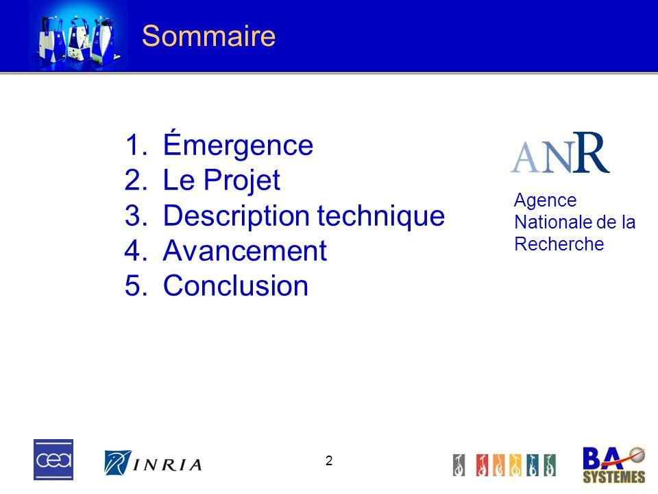 Description technique Avancement Conclusion
