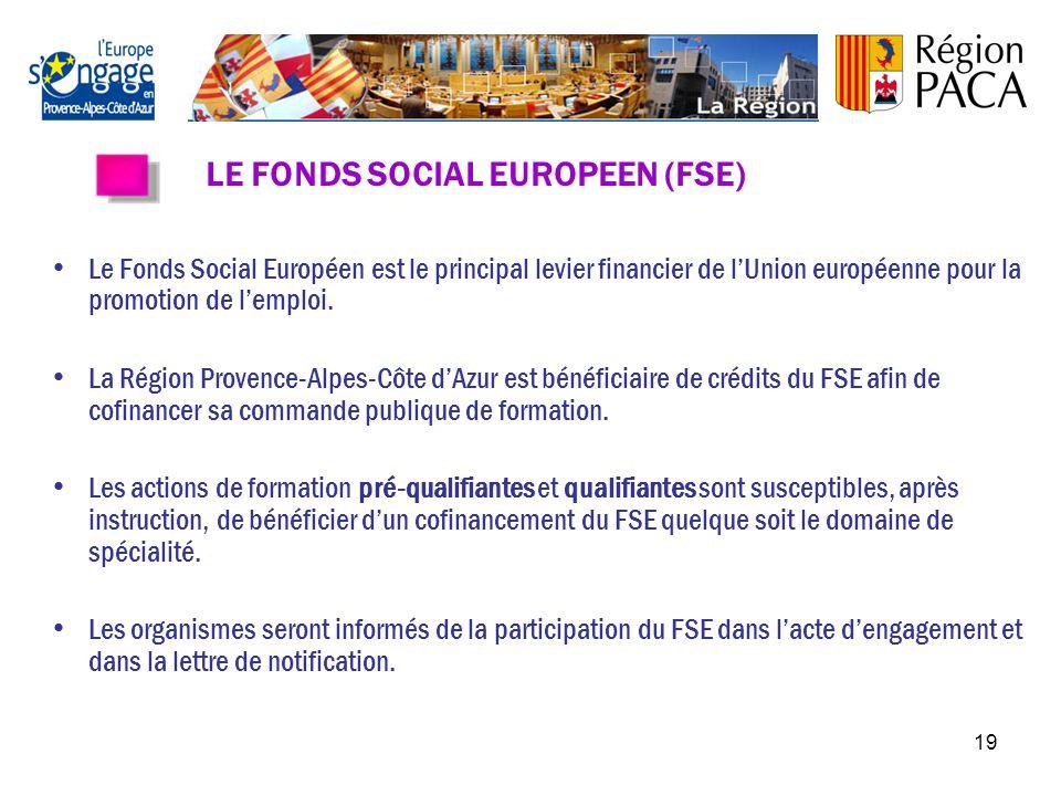 LE FONDS SOCIAL EUROPEEN (FSE)