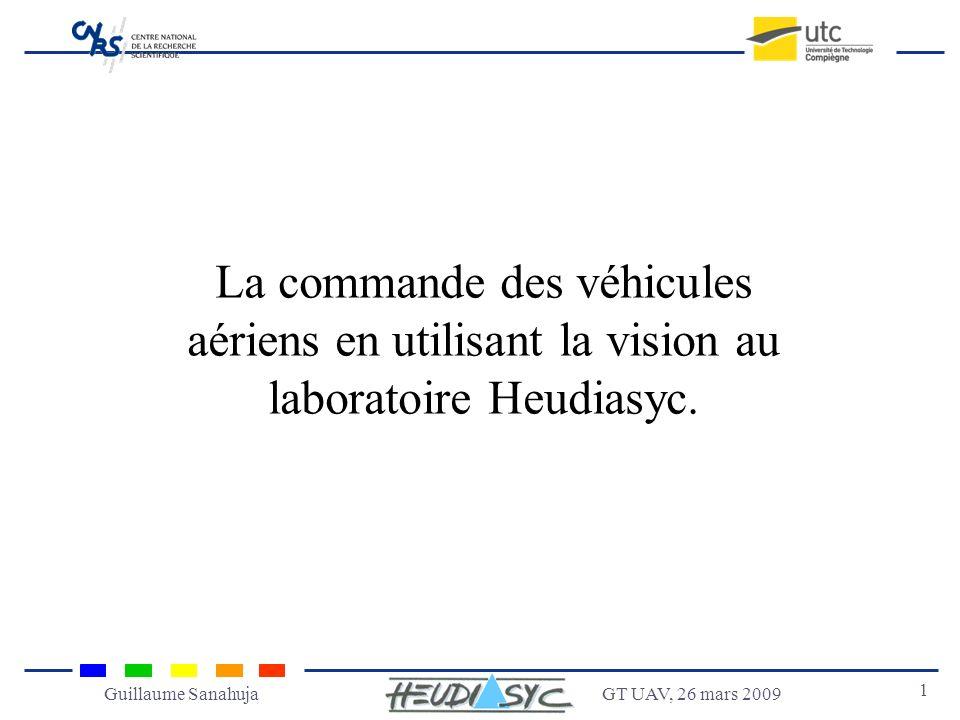 La commande des véhicules aériens en utilisant la vision au laboratoire Heudiasyc.