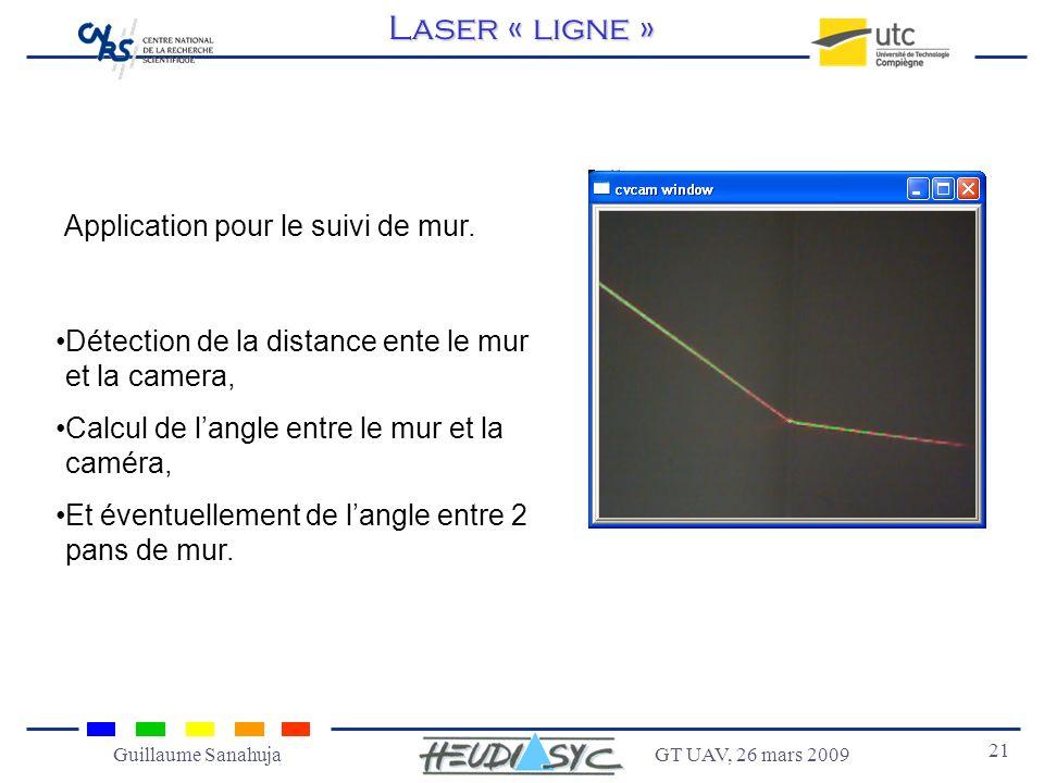 Laser « ligne » Application pour le suivi de mur.