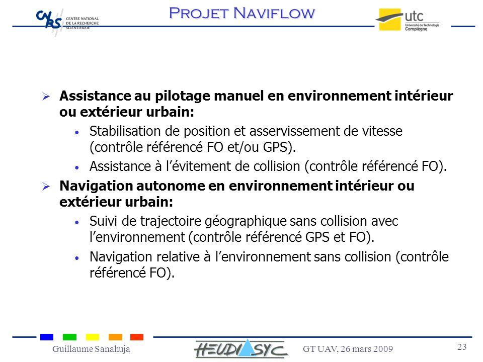 Projet Naviflow Assistance au pilotage manuel en environnement intérieur ou extérieur urbain:
