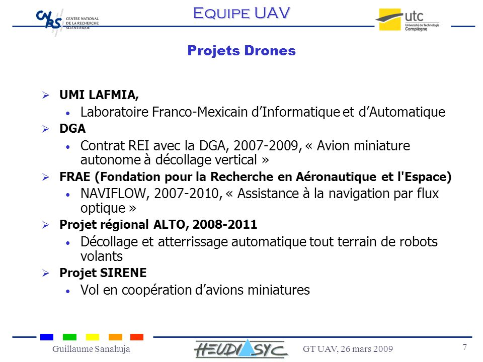 Equipe UAV Projets Drones