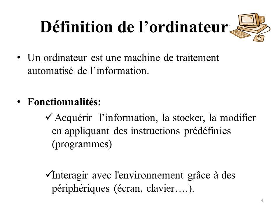 Définition de l'ordinateur: