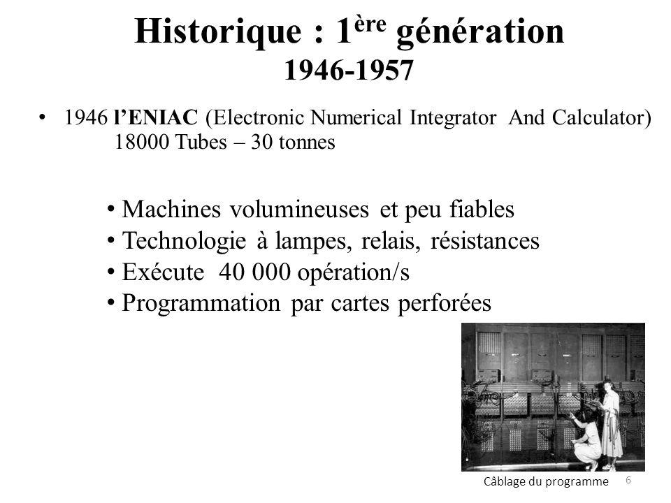 Historique : 1ère génération 1946-1957