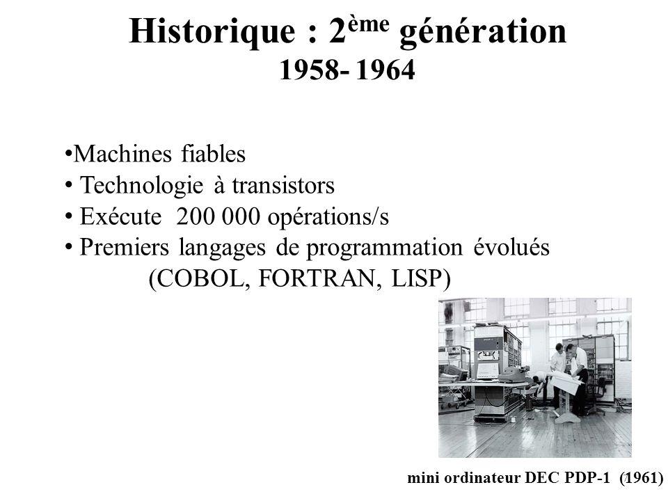 Historique : 2ème génération 1958- 1964