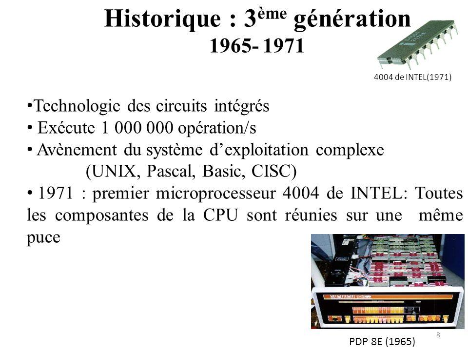 Historique : 3ème génération 1965- 1971