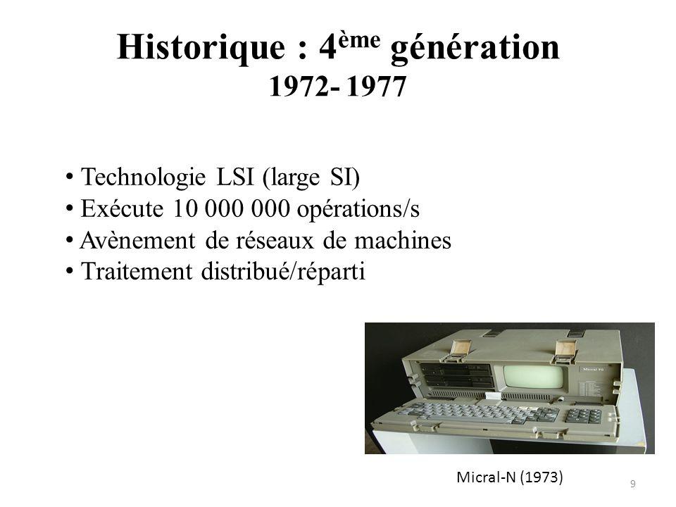 Historique : 4ème génération 1972- 1977