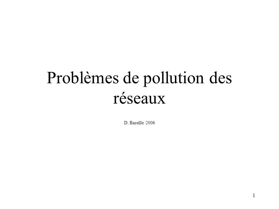 Problèmes de pollution des réseaux