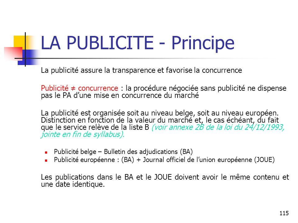 LA PUBLICITE - Principe