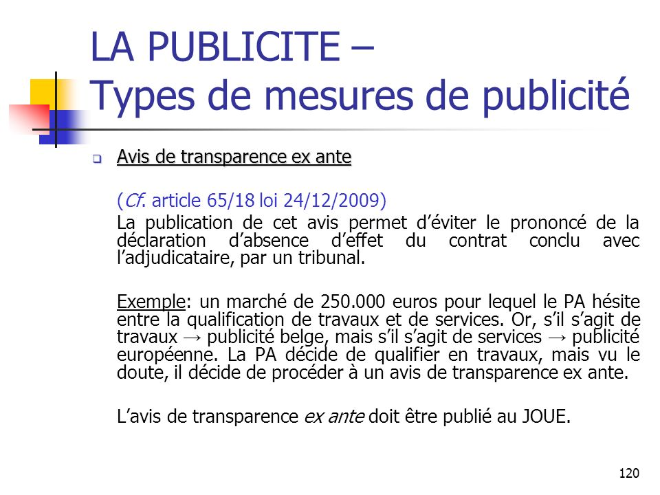 LA PUBLICITE – Types de mesures de publicité