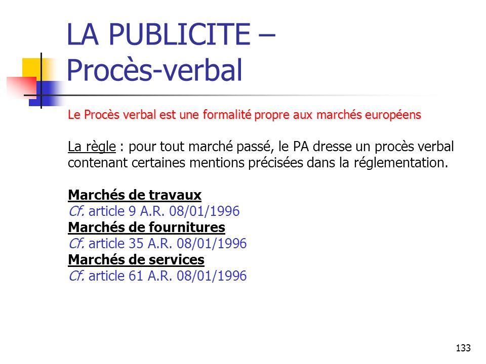 LA PUBLICITE – Procès-verbal