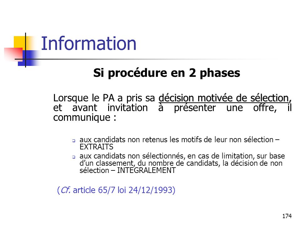 Information Si procédure en 2 phases