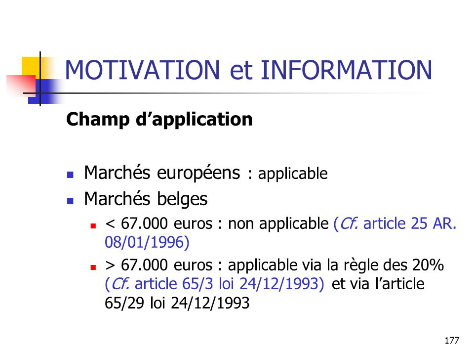 MOTIVATION et INFORMATION