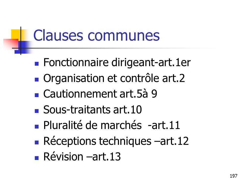 Clauses communes Fonctionnaire dirigeant-art.1er