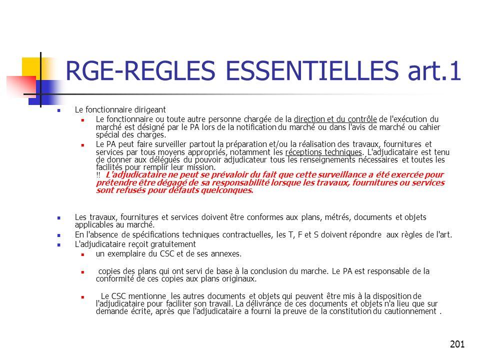 RGE-REGLES ESSENTIELLES art.1