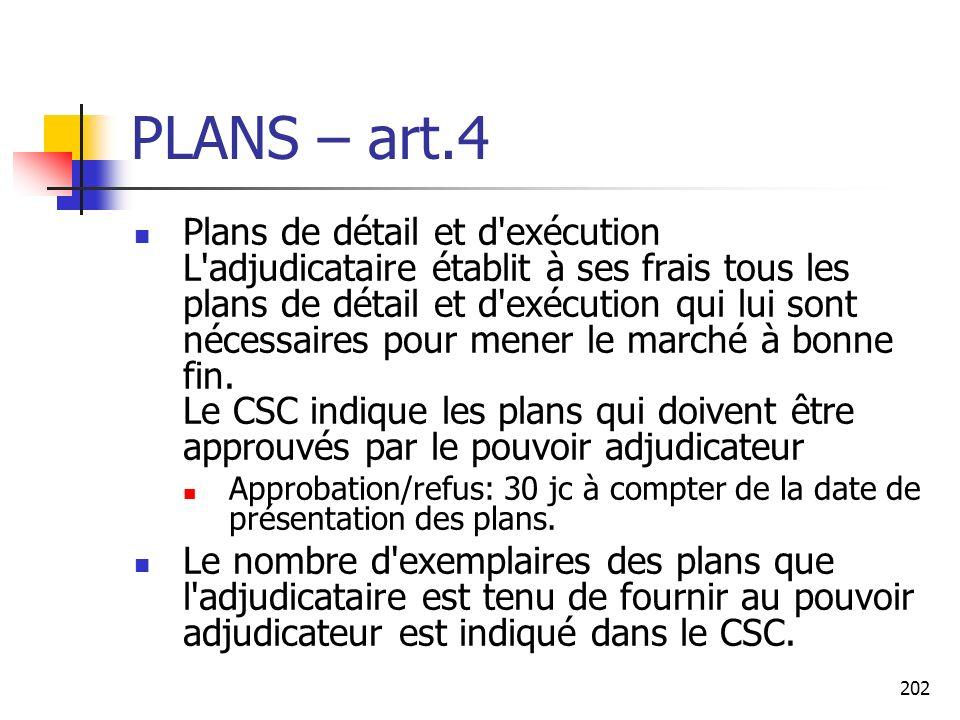 PLANS – art.4