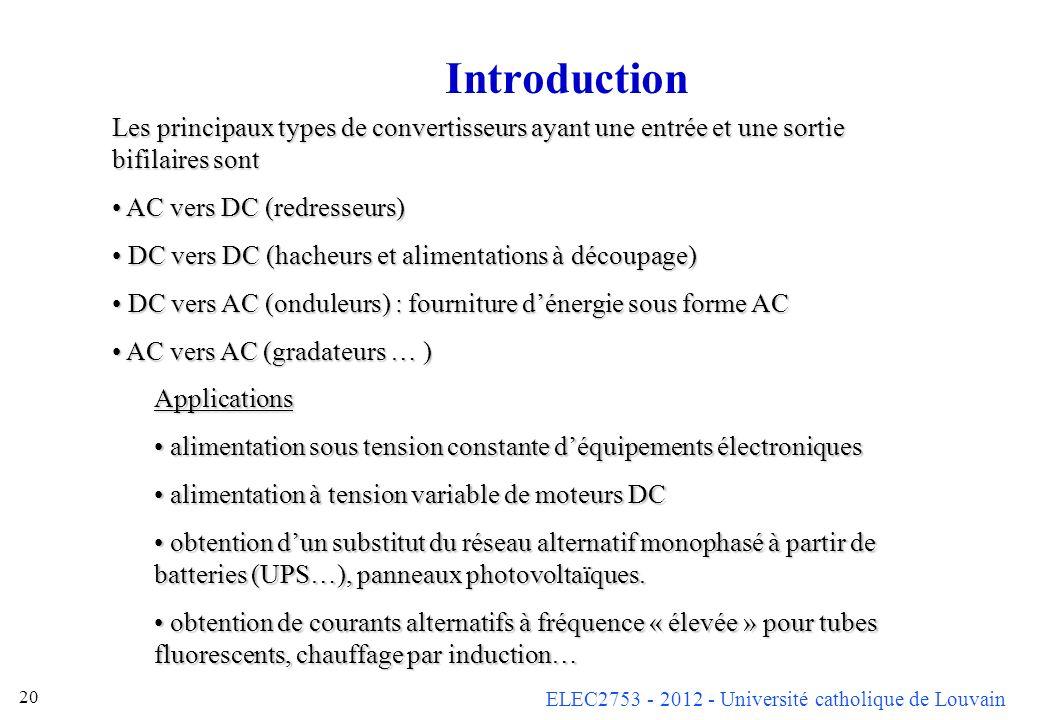Introduction Les principaux types de convertisseurs ayant une entrée et une sortie bifilaires sont.