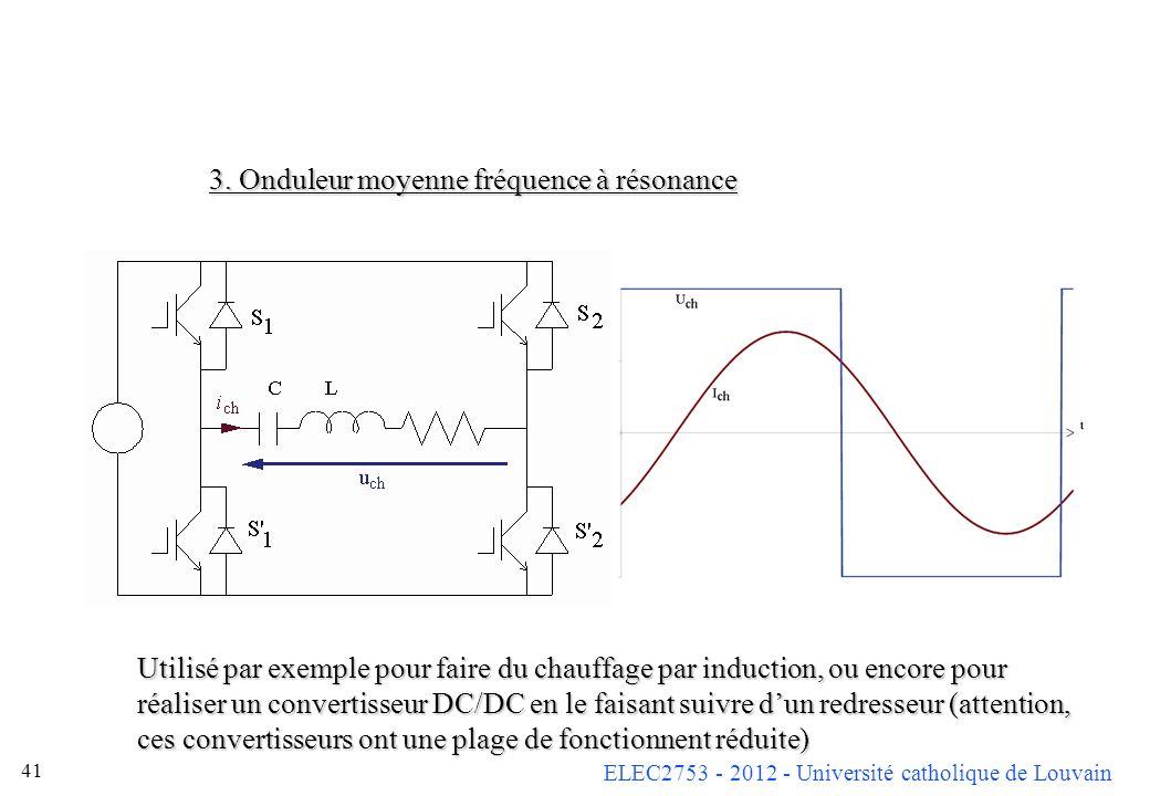 3. Onduleur moyenne fréquence à résonance