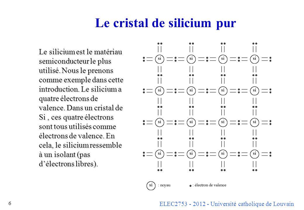 Le cristal de silicium pur