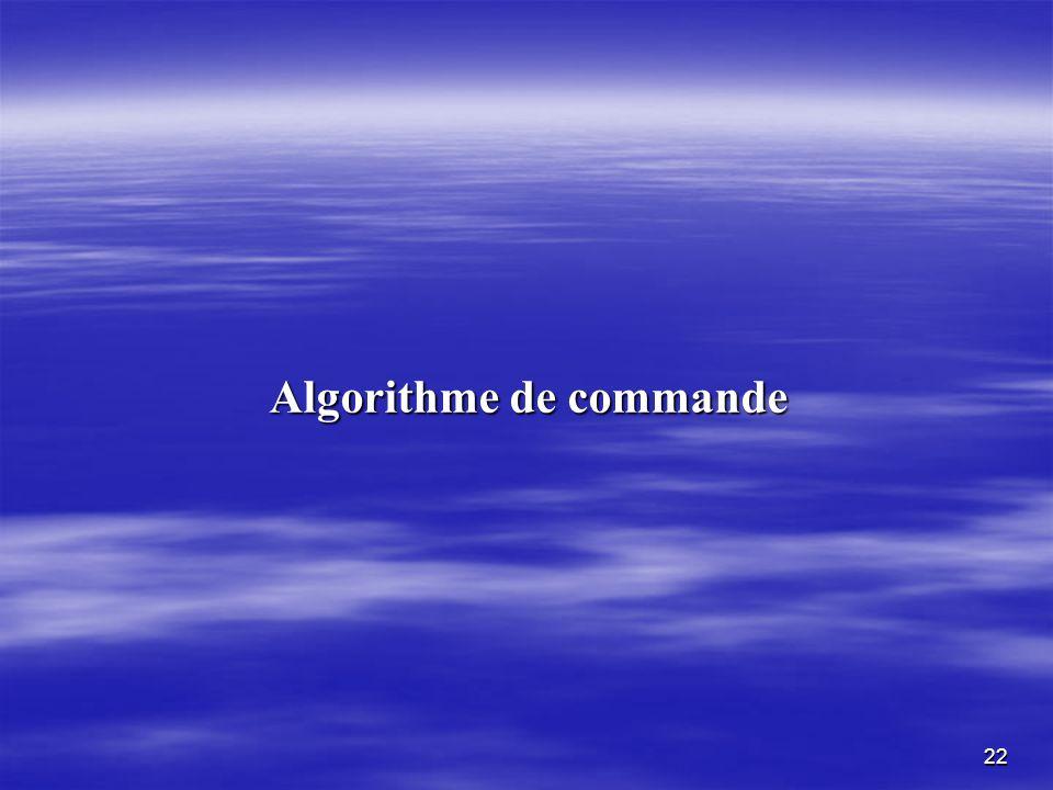 Algorithme de commande