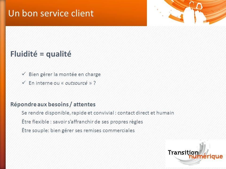 Un bon service client Fluidité = qualité