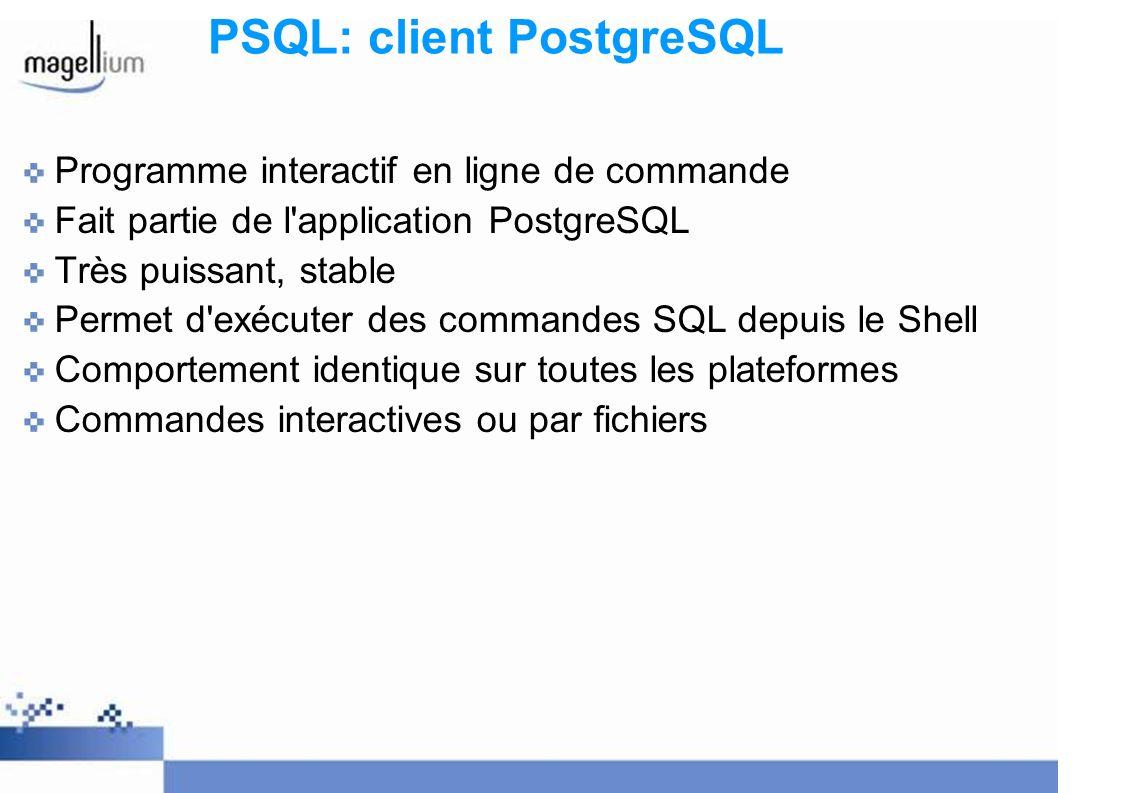 PSQL: client PostgreSQL