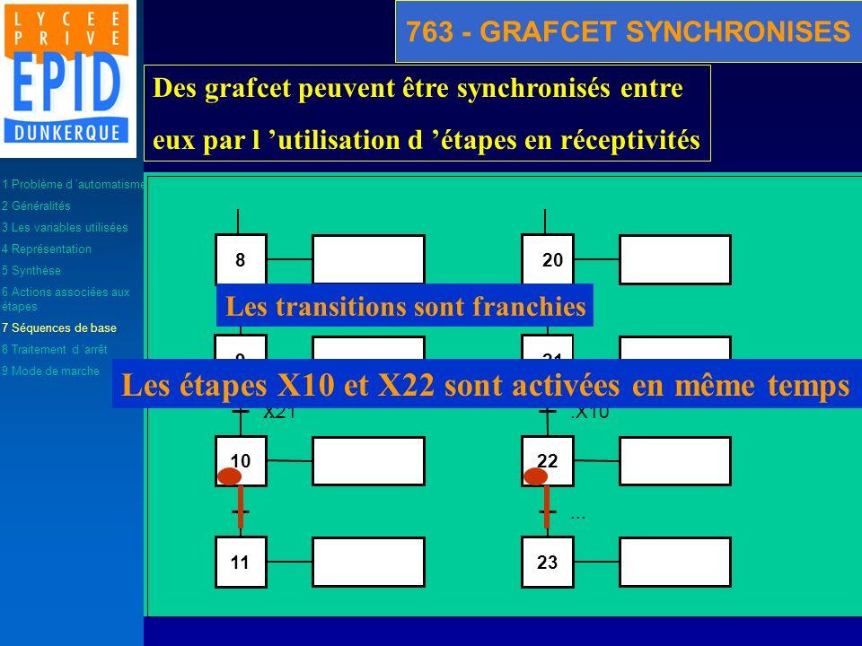 763 - GRAFCET SYNCHRONISES