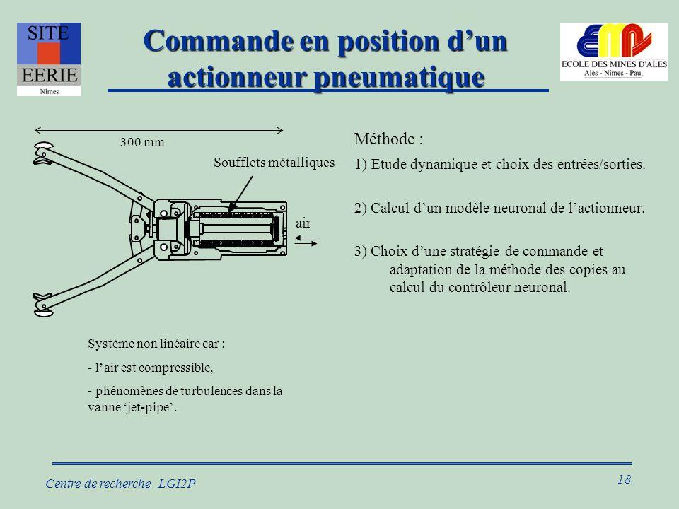 Commande en position d'un actionneur pneumatique