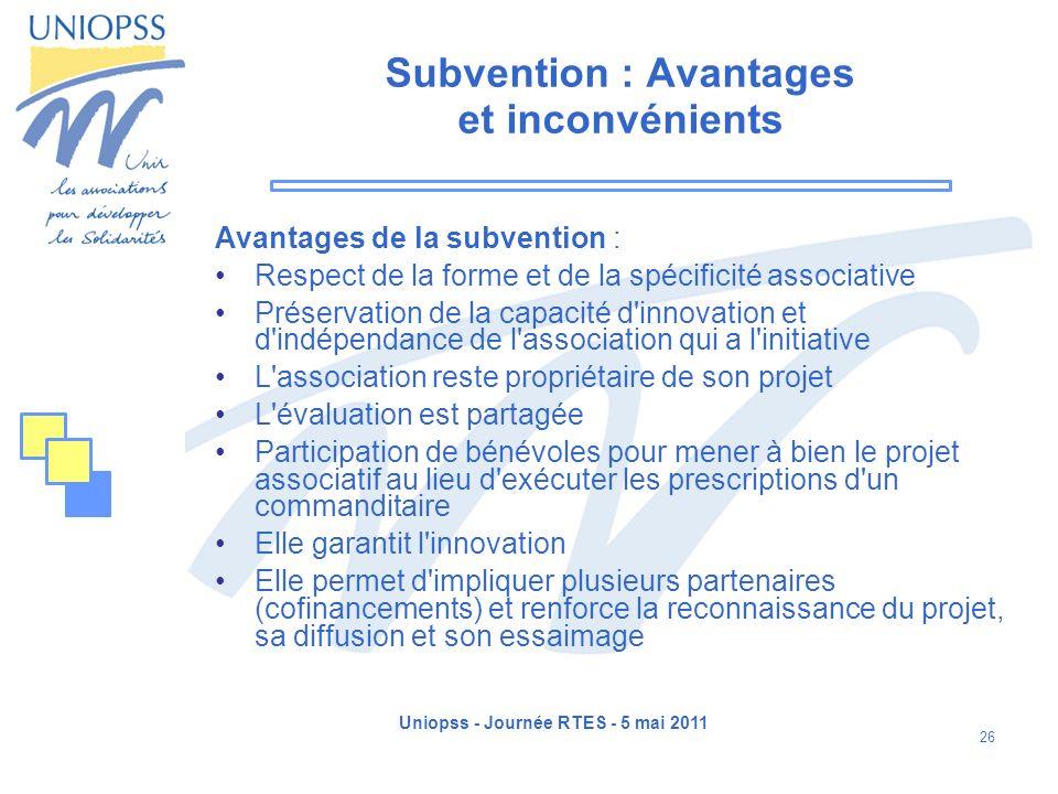 Subvention : Avantages et inconvénients