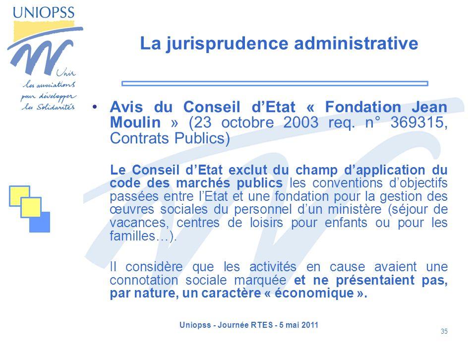 La jurisprudence administrative