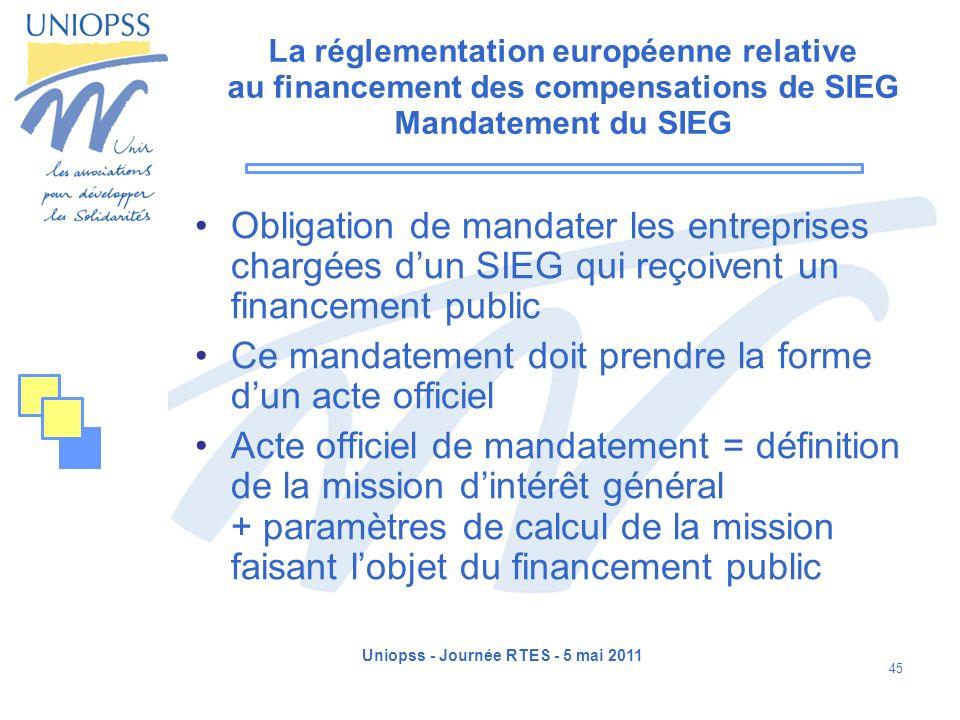 Uniopss - Journée RTES - 5 mai 2011