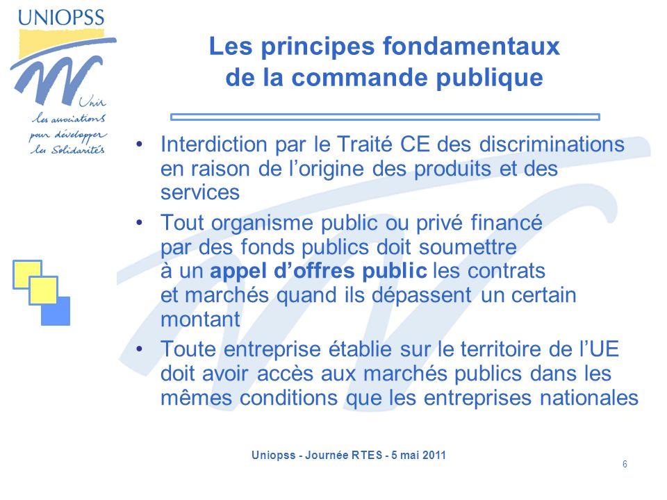 Les principes fondamentaux de la commande publique