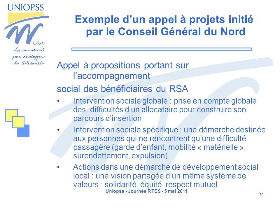 Exemple d'un appel à projets initié par le Conseil Général du Nord