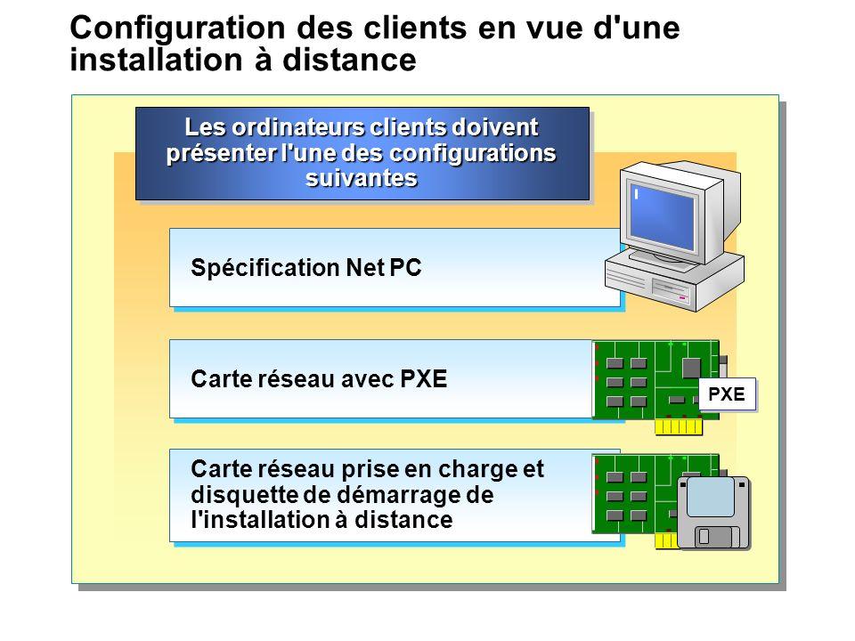 Configuration des clients en vue d une installation à distance