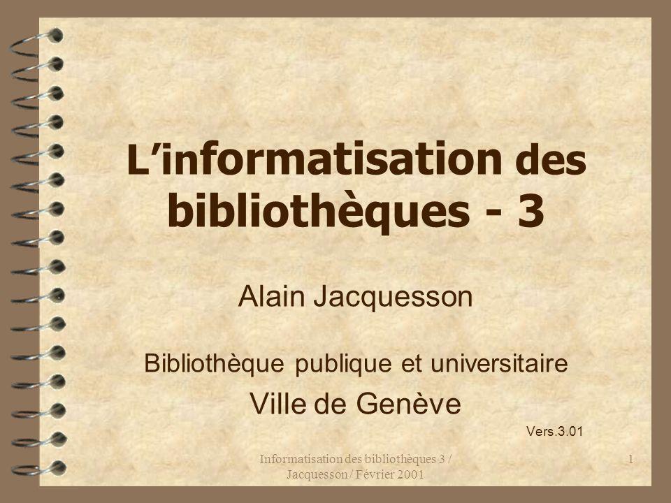 L'informatisation des bibliothèques - 3