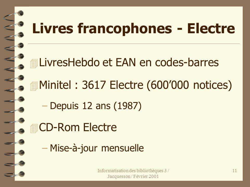 Livres francophones - Electre