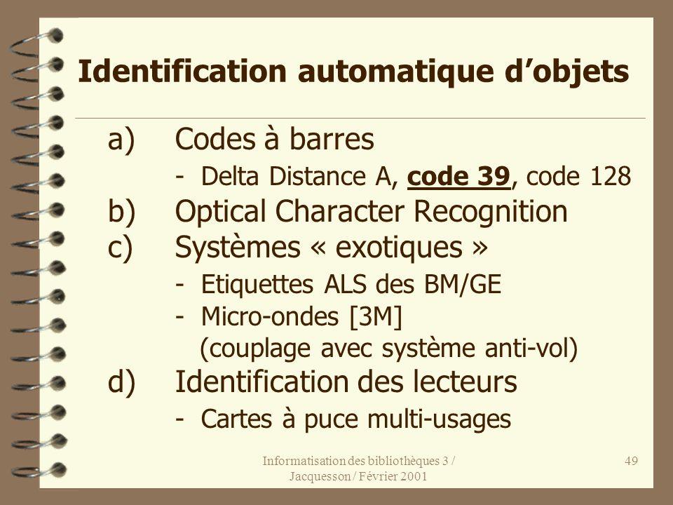 Identification automatique d'objets
