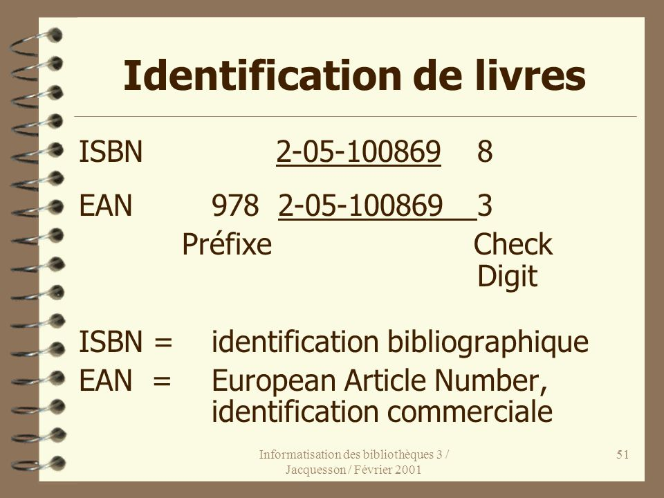 Identification de livres