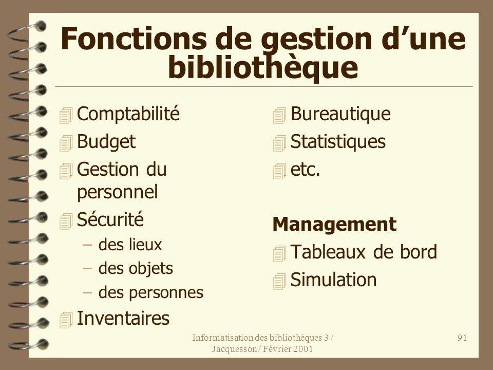 Fonctions de gestion d'une bibliothèque